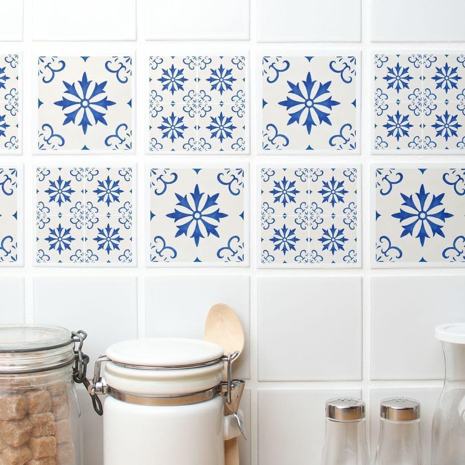 Adesivos de azulejos.