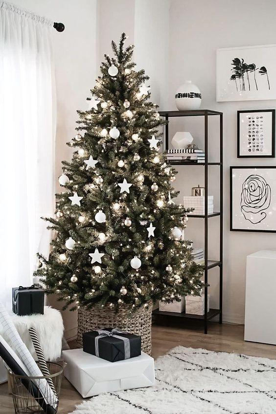 decoração de natal escandinavo.