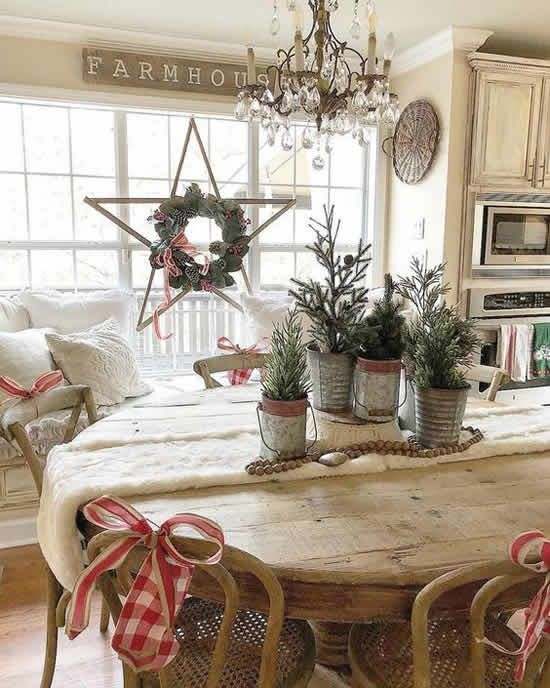 decoração de natal rústica.