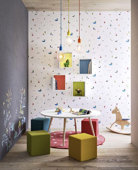 parede da brinquedoteca