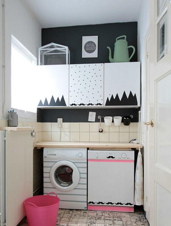 decore sua casa com 500 reais: papel contact nos móveis e eletrodomésticos para decorar e gastar pouco.
