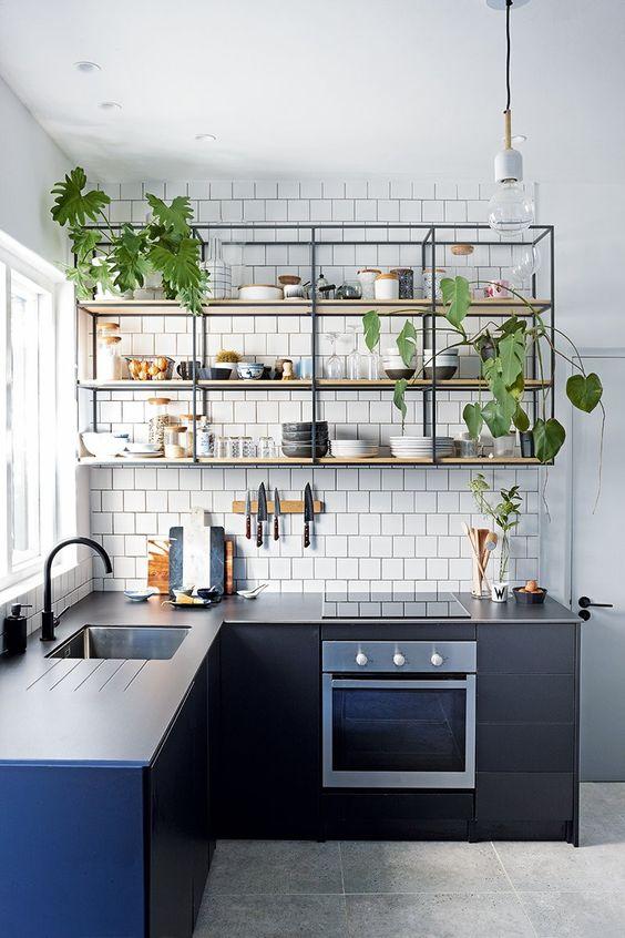 Cozinha no estilo industrial.